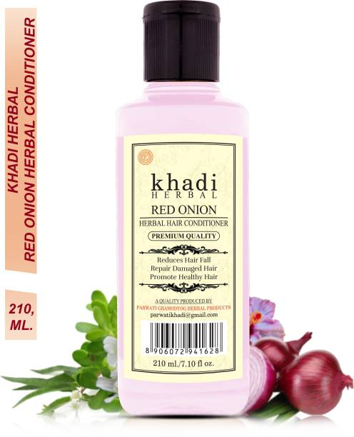 Khadi Herbal Red Onion Conditioner Repair Damage Hair Anti Hair Fall