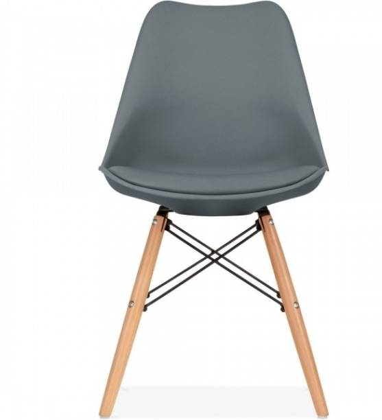 Deal Dhamaal Eames Replica Nordan Iconic Chair in Grey Colour Plastic Living Room Chair