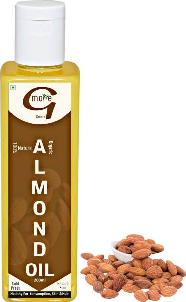 Gmore Cold Pressed - Edible - Virgin - Almond Oil / Badam Rogan Almond Oil PET Bottle