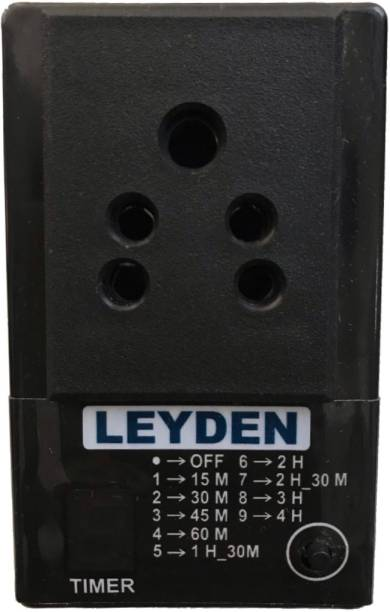 Leyden TM-PLG 230V, 2A, Single Phase High Quality Digital Programmable Timer Plug For Protection On Over Charging Of Your Battery Operated Devices Mobile, Laptop, Camera, TV, Etc. (Black) Programmable Electronic Timer Switch