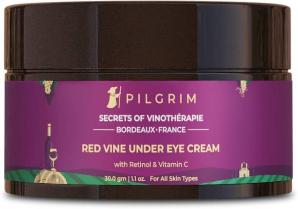 Pilgrim Red Vine Under Eye Cream for Dark Circles, Wrinkles, Fine Lines, Puffy Eyes, Men and Women, 30g