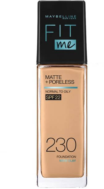 MAYBELLINE NEW YORK Fit Me Matte+Poreless Liquid Foundation (With Pump & SPF 22), 230 Natural Buff, 30ml Foundation