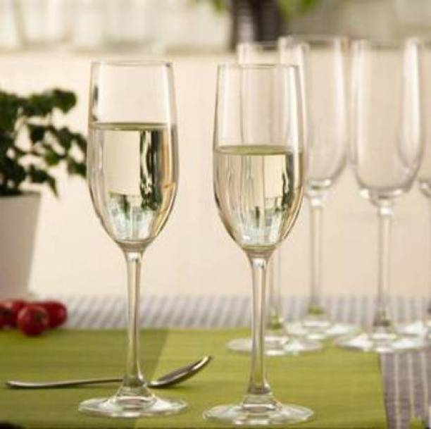 Wazoba (Pack of 6) Long Wine Glass Glass Set