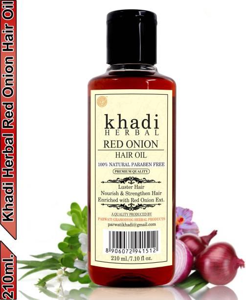Khadi Herbal Red Onion Hair Oil Preventing Hair Loss & Promoting Hair Growth (Pack Of-1) Hair Oil