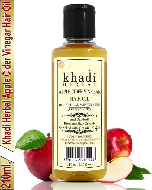 Khadi Herbal Apple Cider Vinegar Hair Oil Promotes Hair Growth (Pack Of-1) Hair Oil