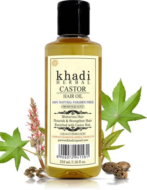 Khadi Herbal Castor Hair Oil For Moisturizes, Nourish & Strengthen Hair (Pack Of-1) Hair Oil