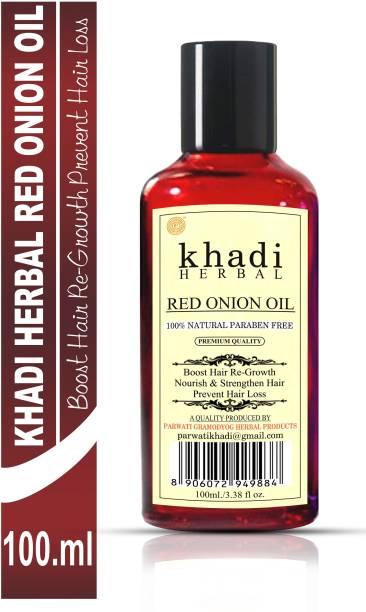 Khadi Herbal Red Onion Oil For Hair Growth Anti Hair Fall (Pack Of-1) Hair Oil