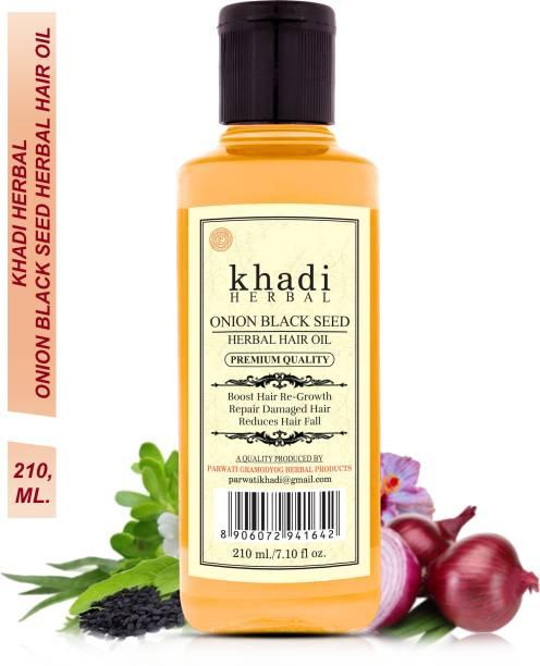 Khadi Herbal Onion Black Seed hair oil , Controls Hair Fall 210ml Hair Oil
