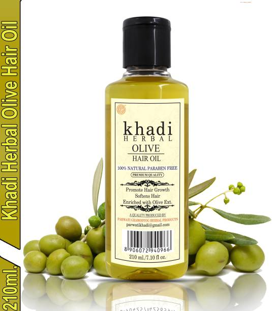 Khadi Herbal Olive Oil Promote Hair Growth & Softens Hair Prevent Hair Fall Hair Oil