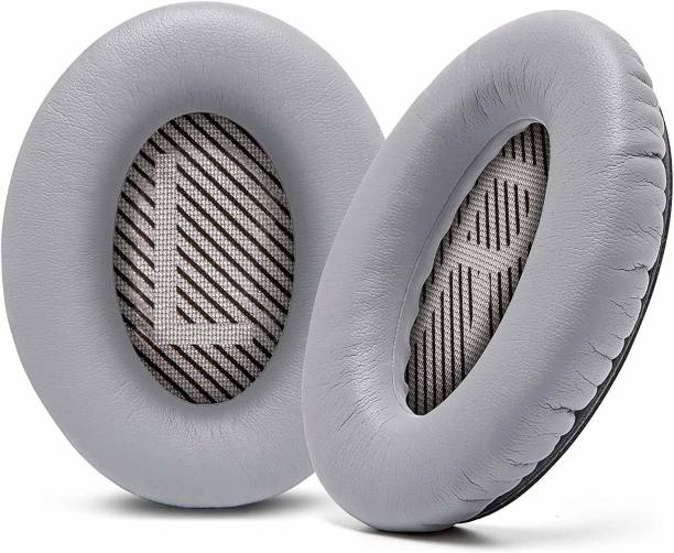 SYGA Headphones EarPads Cushions Replacement - Compatible with Bose QuietComfort 15 QC15 QC25 QC2 QC35/ Ae2 Ae2i Ae2w SoundTrue & SoundLink (Around-Ear Series Only)-Light Grey & Black Font) Over The Ear Headphone Cushion