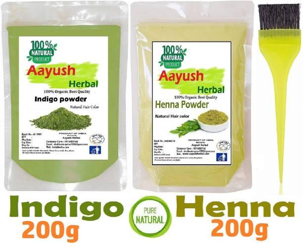 Aayush herbal POWDER 100% NATURAL HAIR COLOR (200g EACH)