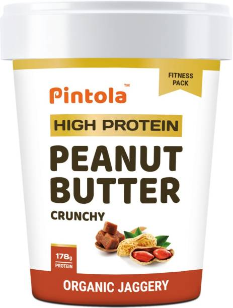 Pintola HIGH Protein Peanut Butter (JAGGERY) (Crunchy) 510 g