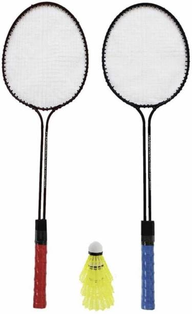SPO Zone Badminton Racquet Set Of 2 Piece With 3 Piece Shuttle Badminton Kit