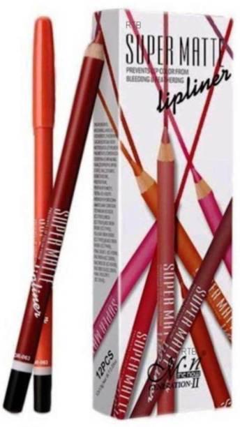 Lenon Beauty Super Matte Lipliner Pencil Make Up Soft Non-dizzy Texture Waterproof Long-lasting Lip Liner
