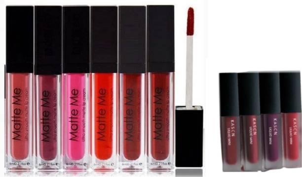 KASCN Combo Pack True Matte Ultra Smooth Liquid Lipstick With Matte Minis Red Edition Liquid Lipstick