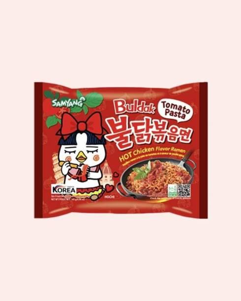 Samyang omato Pasta Hot Chiken Flavor Ramen Stir-Fired Noodle 5 X 140g Instant Noodles Non-vegetarian
