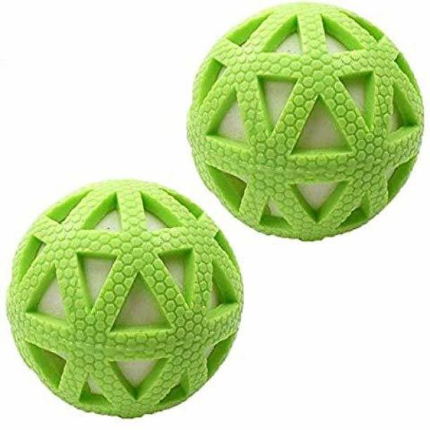 FOODIE PUPPIES Vinyl Puppy Toy Ball with Colorful Pattern for Puppy, Kitten (Pack of 2) Rubber Chew Toy For Dog