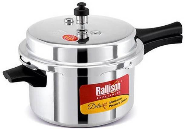 Rallison Appliances ISI CERTIFIED With Heavy 4MM Thickness & Double Safety Valve 2 L Pressure Cooker