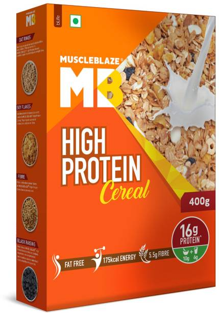 MUSCLEBLAZE High Protein Cereal 16g Protein per serving. Protein Cereal