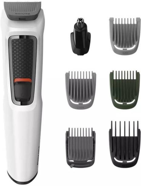 PHILIPS MG3721/77 Multi-Grooming Series 3000 7-in-1 for Face-Hair-Body-Nose and Ear Kit  Runtime: 60 min Grooming Kit for Men