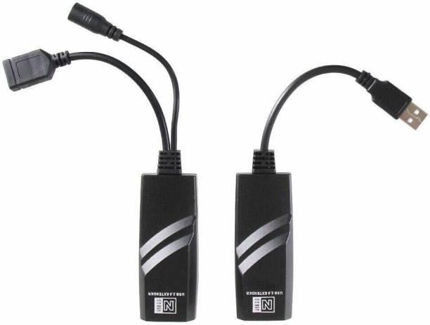 REC Trade USB 2.0 Extender by RJ45 LAN 100m Extender Adapter USB Adapter