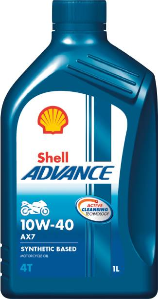 Shell Advance AX7 10W-40 API SM Synthetic Blend Engine Oil