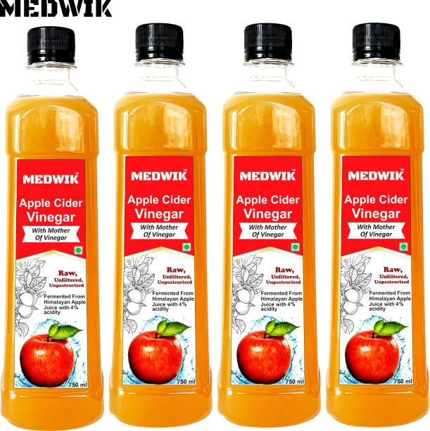 MEDWIK Apple Cider Vinegar For Weight Loss Each 750 ml Vinegar