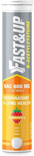 Fast&Up NAC (N - Acetylcysteine) 600mg NAC + 40mg Vitamin C, Lung health and Liver Detox