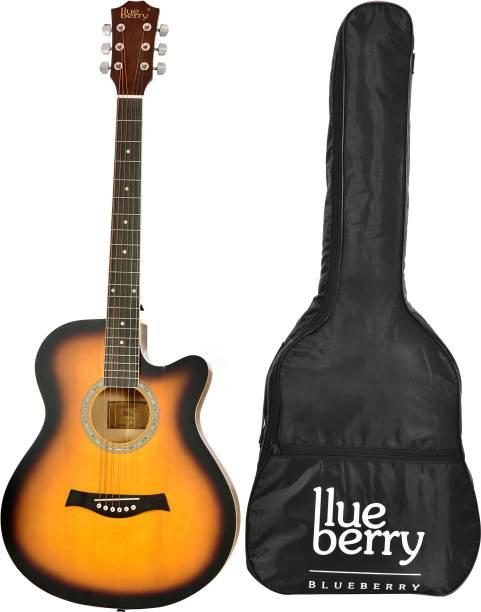 "blueberry B-40L-Sunbrust,40"" Acoustic Guitar Spruce Ebony Right Hand Orientation"