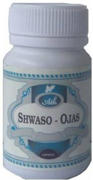 Ath Ayurdhamah Shwaso Ojas Capsules for Respiratory Issues - 1 Month Pack