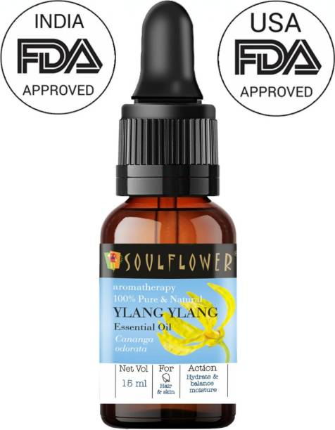 Soulflower Ylang Ylang Essential Oil (15 ml)| 100% Pure, Natural and Undiluted for Hair, Skin and Face