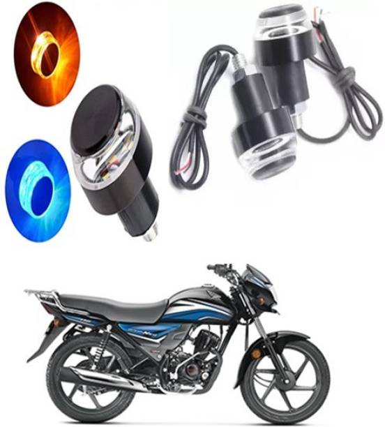 THE ONE CUSTOM HEAVY HANDLE LIGHT BLUE AND ORANGE FOR BIKE AND SCOOTY C-074 Bike Handlebar Weights