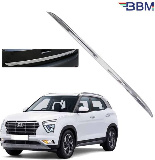 BBM Car Dicky Trim Garnish Diggi Silver Chrome Line Stainless Steel for Boot show compatible with Hyundai Creta 2020 2021 Chrome, Glossy Hyundai Creta Rear Garnish