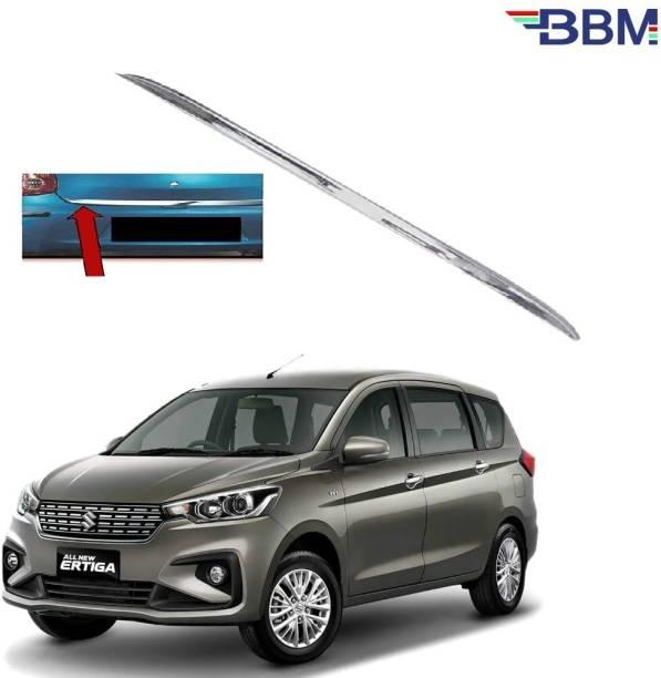 BBM Car Dicky Trim Garnish Diggi Silver Chrome Line Stainless Steel for Boot show compatible with Maruti Suzuki Ertiga 2019 2020 2021 Chrome Maruti Ertiga Rear Garnish