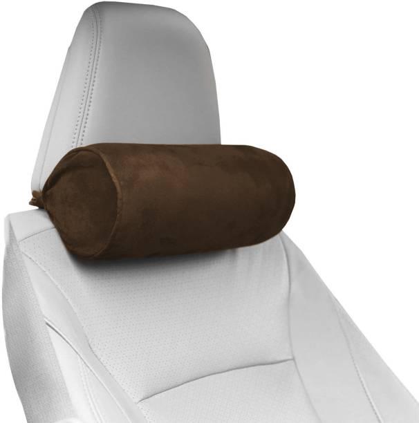 PUMPUM Brown Microfibre Car Pillow Cushion for Universal For Car