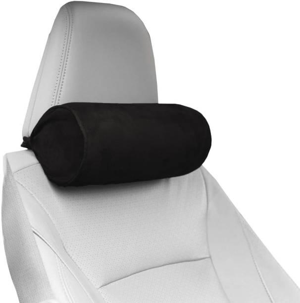 PUMPUM Black Microfibre Car Pillow Cushion for Universal For Car