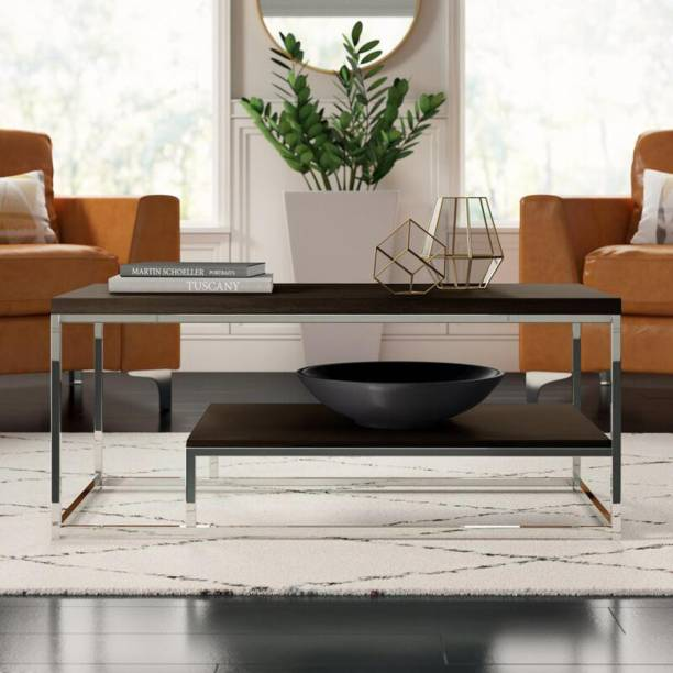 TeakBliss Metal Coffee Table