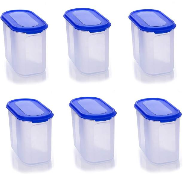 Welldone Oval Container 1000ml Set of 6  - 1000 ml Plastic Grocery Container