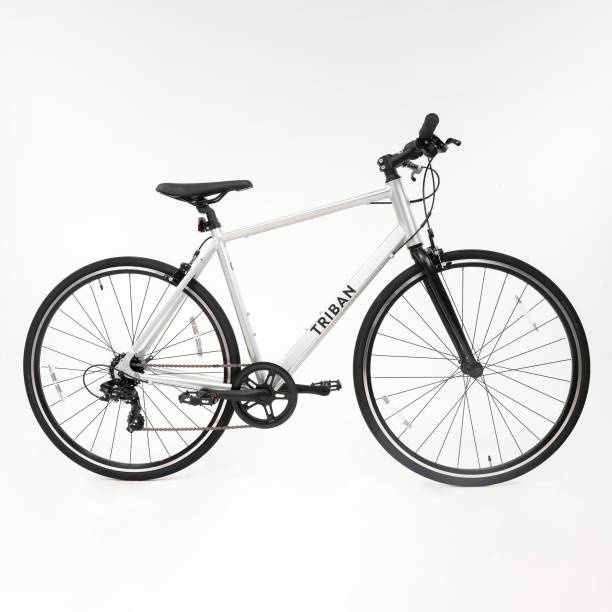 TRIBAN by Decathlon BTWIN 100 FLAT BAR ROAD BIKE 27.5 T Road Cycle