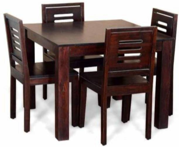 sushil Premium Dining Room Furniture Wooden Dining Table with 4 Chairs-001 Solid Wood 4 Seater Dining Set