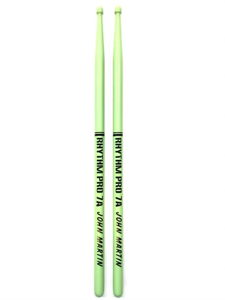 Rhythm Pro Rhythm Pro 7A JOHN MARTIN Drum Stick Matte Green Finish For Drums & Octapads with carry pouch free 9559675303530 Drumsticks