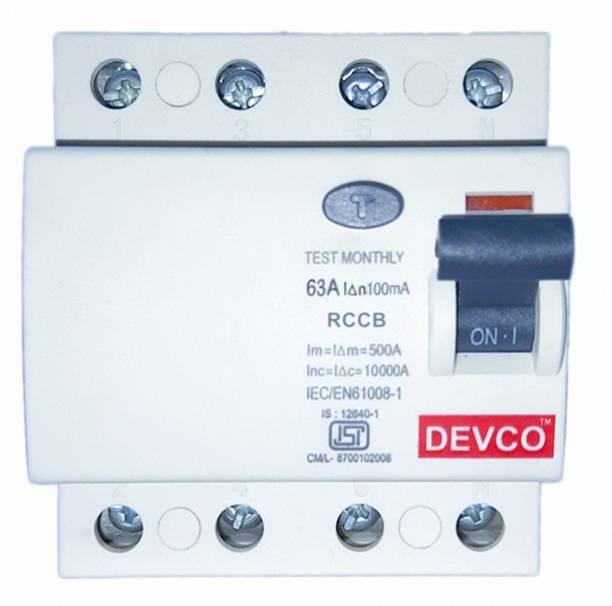 DEVCO 4-Pole 63-Amp (100mA) - RCCB RCC406310 MCB