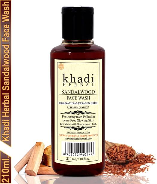 Khadi Herbal Sandalwood Face wash/Chandan  For Radiance And Glow (Pack Of-1) Face Wash