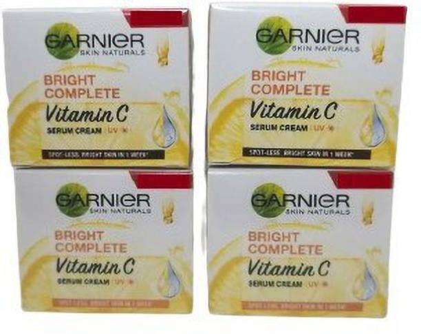 GARNIER BRIGHT COMPLETE VITAMIN C SERUM CREAM (PACK OF 4)