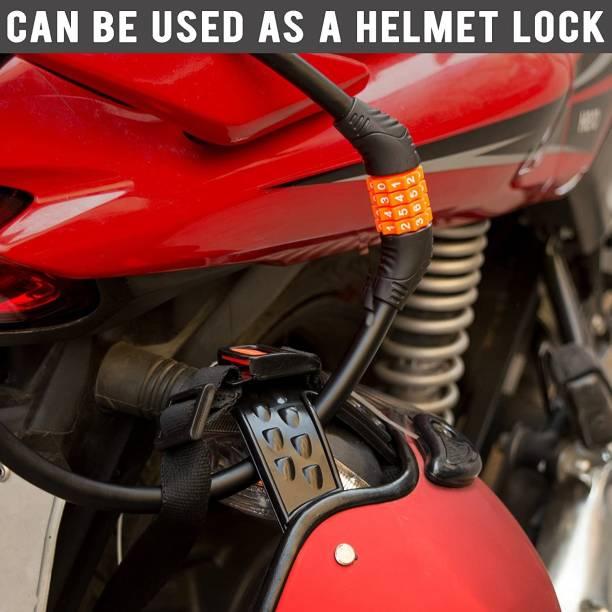AXWee Steel, Plastic Combination Lock For Helmet