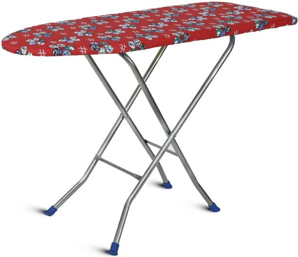 FLIPZON Wooden Self Standing Ironing Board With Folding Feature Heavy Duty, Multi Color (Color And Design of Cloth Will Different) Ironing Board