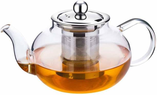 HOMACE 0.6 L Kettle Glass Kettle/Teapot with Stainless Steel Infuser & Lid, Borosilicate Glass Tea Kettle Stovetop Safe (600 ML) Pitcher