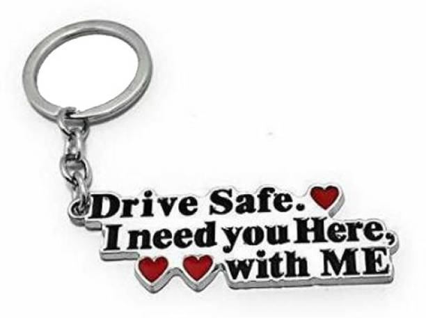 Splazos Drive Safe Handsome Engraved Keychain Keyring for Husband Boyfriend Gift Key Chain