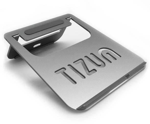 Tizum Foldable Anodized Aluminum Lightweight Ergonomic, Air Vented Multi-Function TZ-ATS-SPCGRY Laptop Stand