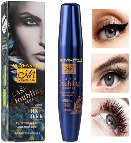 buyfast21 M.N 100% ORIGINAL NEW FORMULA A LUXURIOUS LASH DOUBLING MASCARA CREATES EXCEPTIONAL LONG THICK CURLY LASHES 8 g